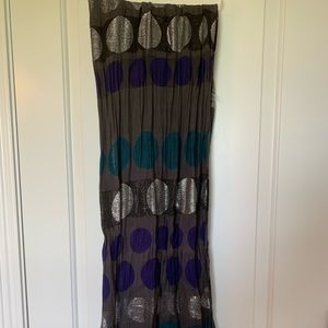 Blue and silver Loft scarf